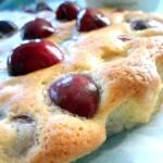 Tortina di ciliegie e zucchero di canna!