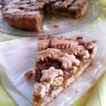 Crostata con farina integrale e composta di fichi