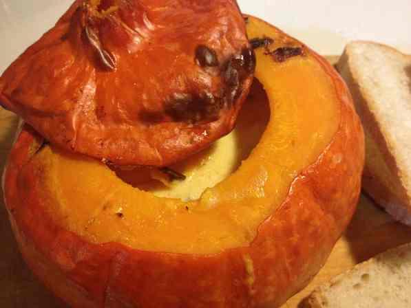 Zucca con formaggi 2