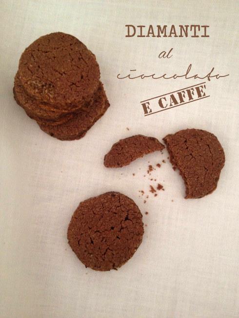Diamanti di cioccolato al caffè