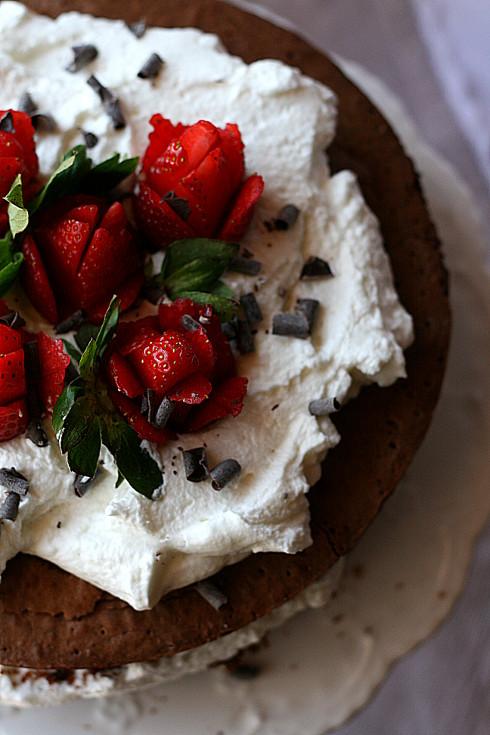 Torta manuela e fragole 2