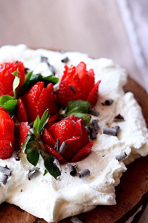 Torta manuela e fragole 3