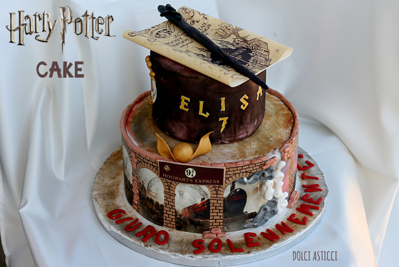 harry potter cake per elisa dolci pasticci. Black Bedroom Furniture Sets. Home Design Ideas
