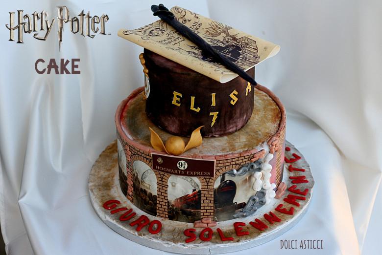 harry potter cake per elisa dolci pasticci. Black Bedroom Furniture Sets. Home Design Ideas