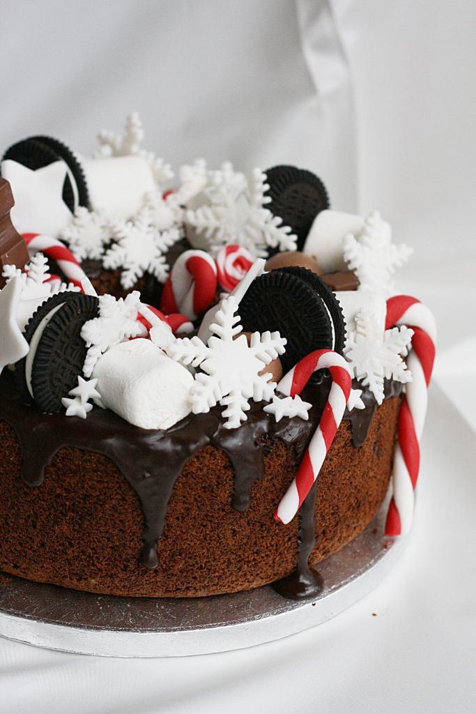 chiffon cake con pere e cioccolato