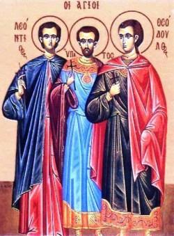 sveti Leoncij, Hipatij in Teodul - vojaki in mučenci