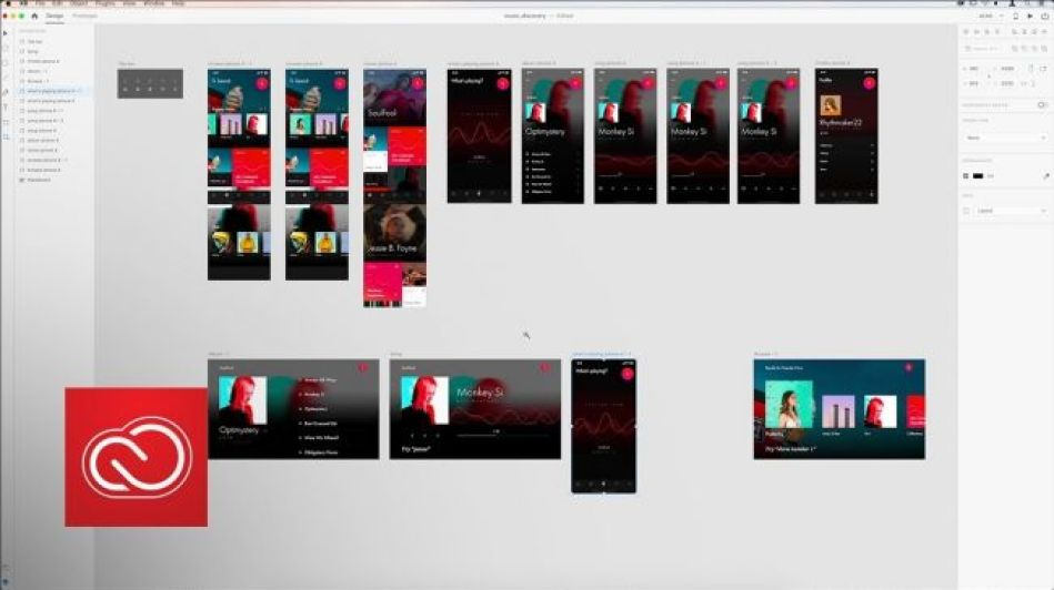 Sketch rival Adobe XD has a light interface t