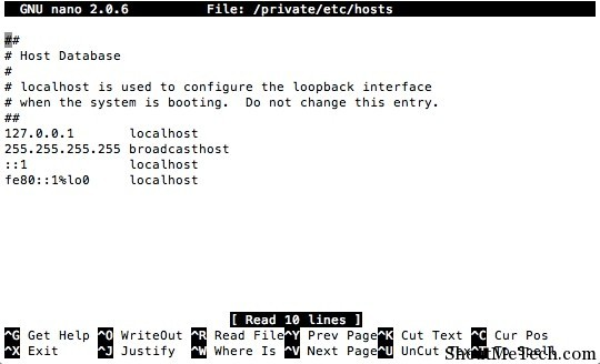 How To Edit Hosts File in Mac OS