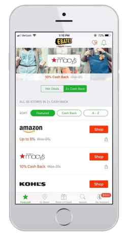 money making apps for iphone - ebates mobile app