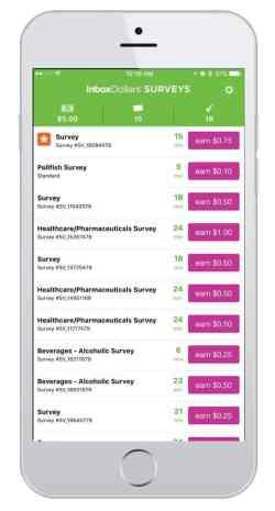 best apps to make money fast - inbox dollars survey app screenshot