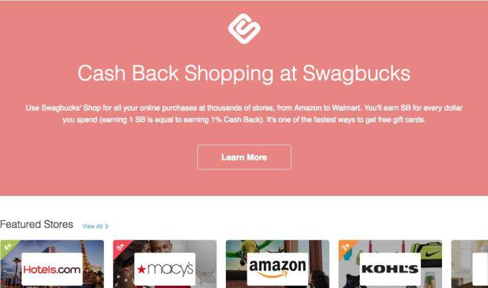 Swagbucks featured stores - swagbucks review bbb A+