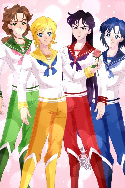 Sailor Senshi Male Version By Launing