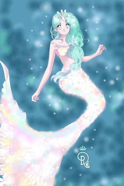White Fire Opal Mermaid By ChicGeek