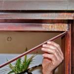 Zargo-Kunststoffschiene an Hebe-Senk-Tür