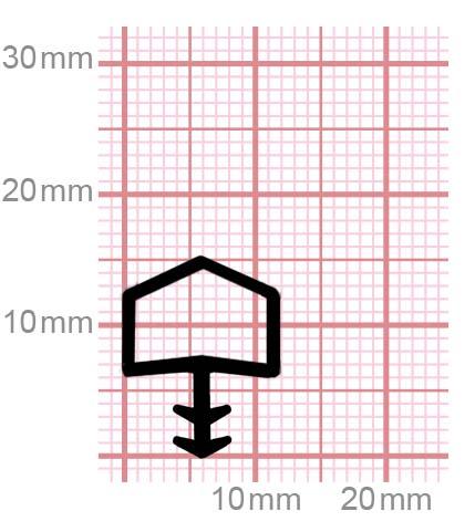009-13 Zargendichtung für Zimmertüren aus Holz