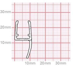 Dichtung Duschkabine | 6-8 mm Glasstärke | 019-14