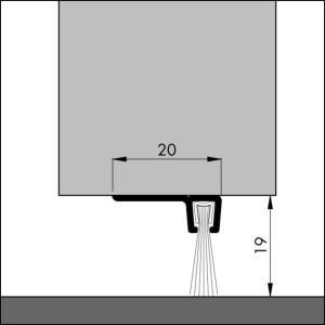 Bodendichtung, Winkelschiene mit Bürstendichtung   Dollex6 IBS 90-18
