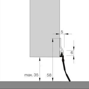 Dollexs5 IBS-35 | Dichtung für Garagentore mit Gummilippe