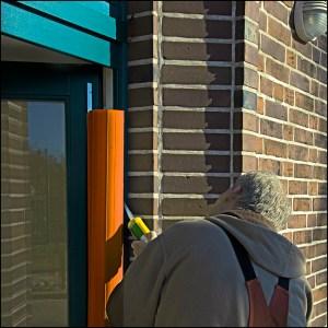 Fingerschutz-Profil Montage an Kita-Tür