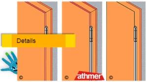 Türen KlemmSchutz von Athmer für die Bandseite