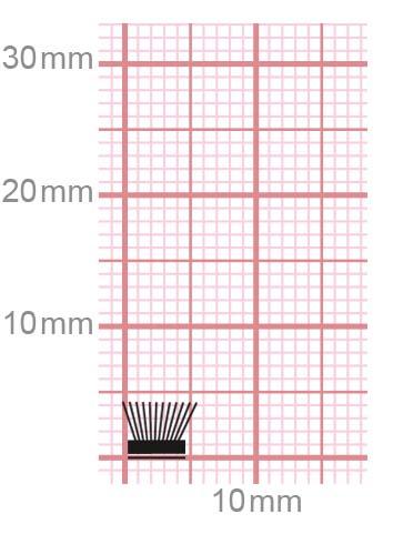 Selbstklebende Bürstendichtung 032-54-gr / grau 4 mm = Bürstenhöhe 6,7 mm = Fußbreite