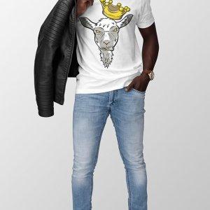 White Da GOAT T-Shirt