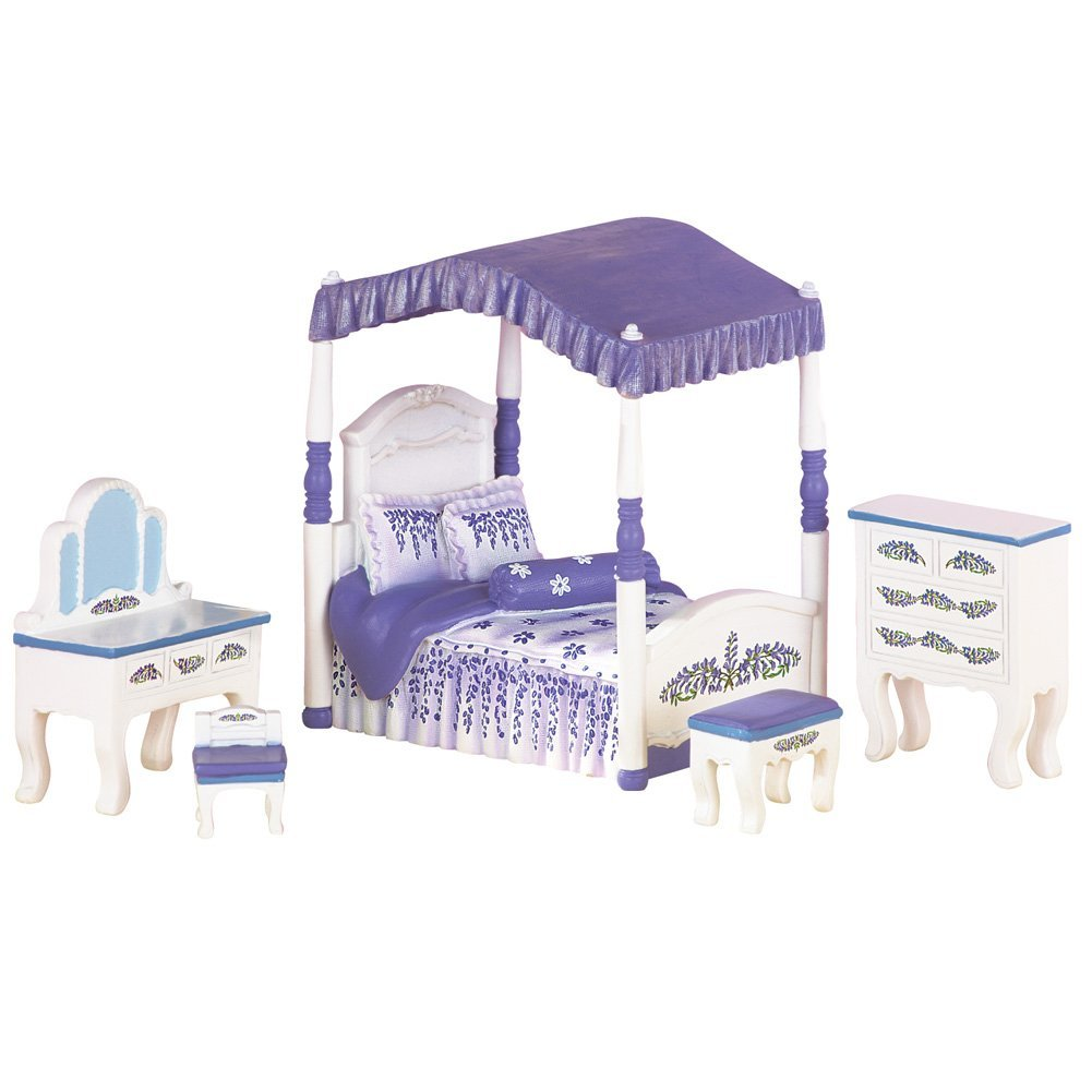 Collectible Wisteria Miniature Dollhouse Bedroom Furniture Set