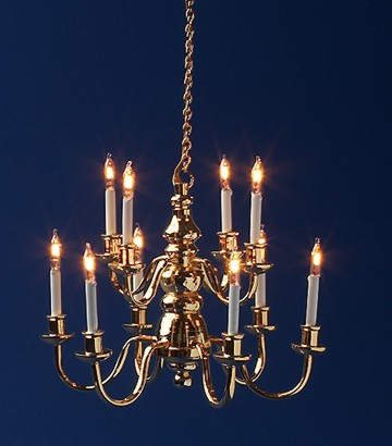 Dolls House Light 10 Arm Chandelier
