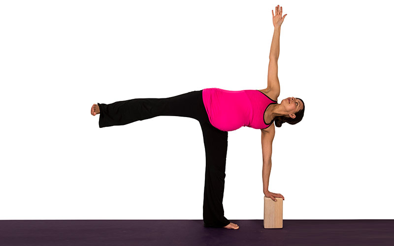 Image result for half moon block yoga