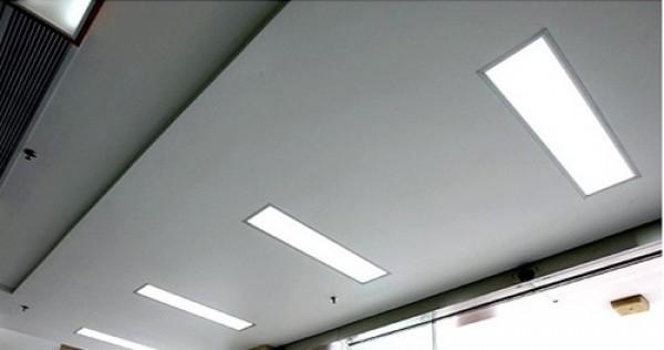plafonnier led dalle led pave led 1200 x 300 mm 40w cadre aluminium