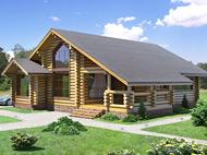 Одноэтажный дом из бревна