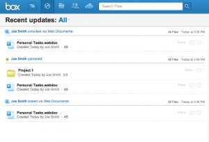 Box Updates Page