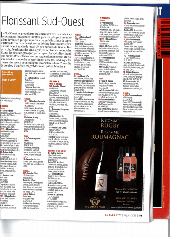 Le Point June 2015 Summer Wine Guide