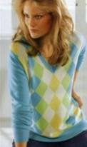 Каталог Alba Moda. Кашемировый пуловер с ромбами для женщин естественного стиля.