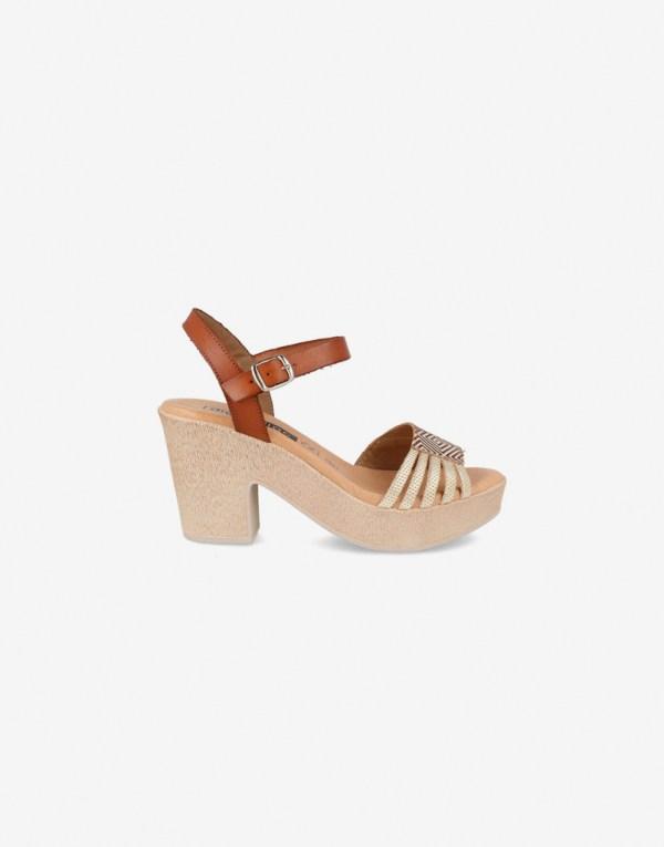 Sandalia de Tacón Mujer