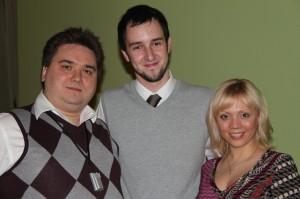 Я, Павел Зименков, Мария Скребцова на клубе Ближний Круг