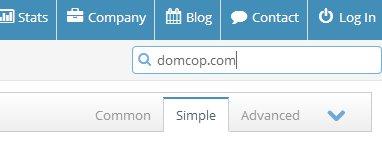 Поиск одного домена