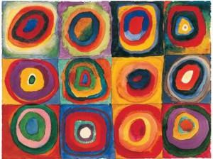 w kandinsky quadrati con cerchi concentrici