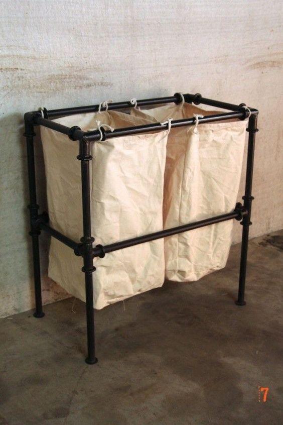 11 diy laundry hampers domesblissity diy pvc pipe fabric laundry hamper solutioingenieria Gallery