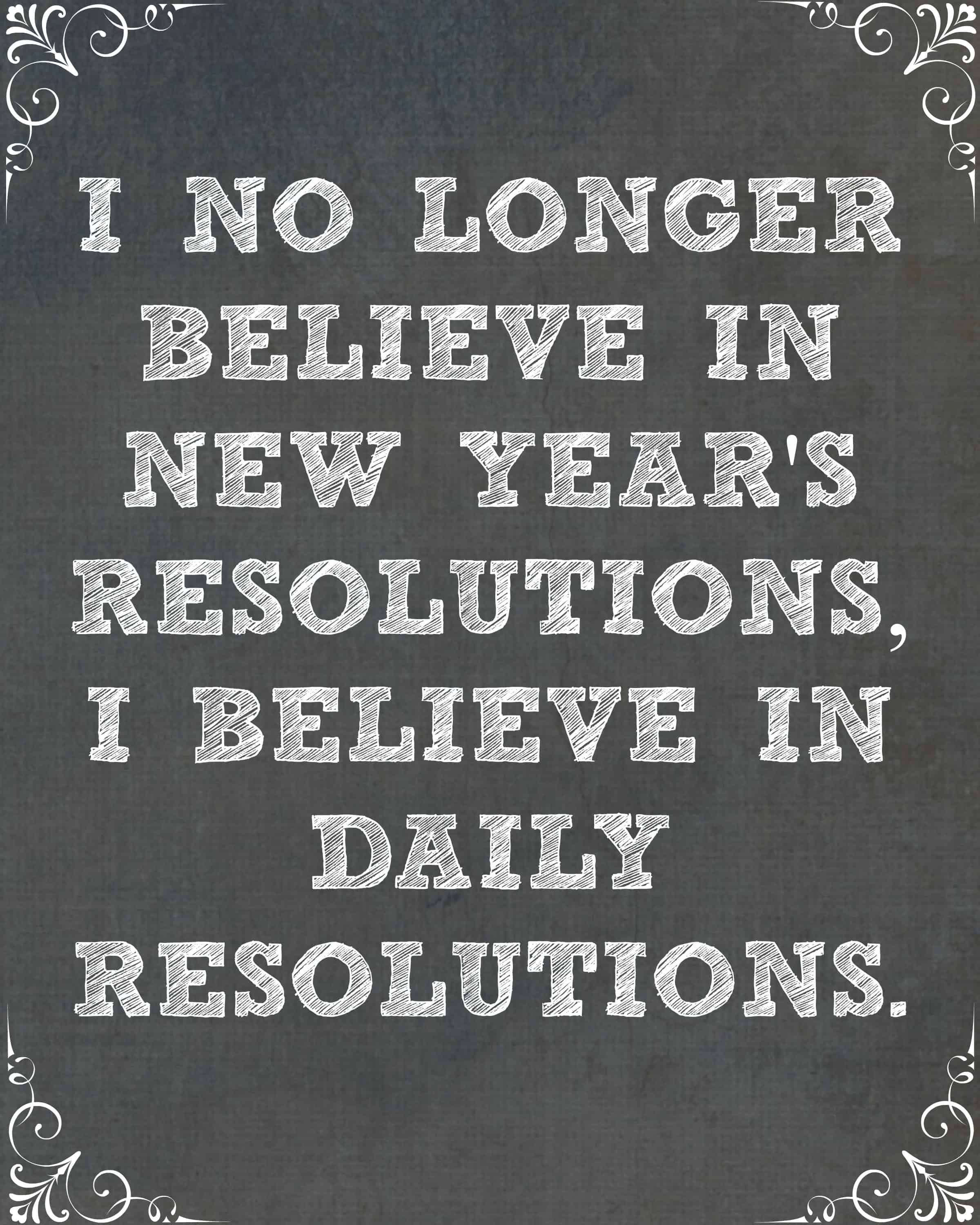 New Year S Resolutions Daily Printable