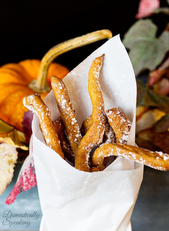 Pumpkin Spice Funnel Fries Domestically Speaking
