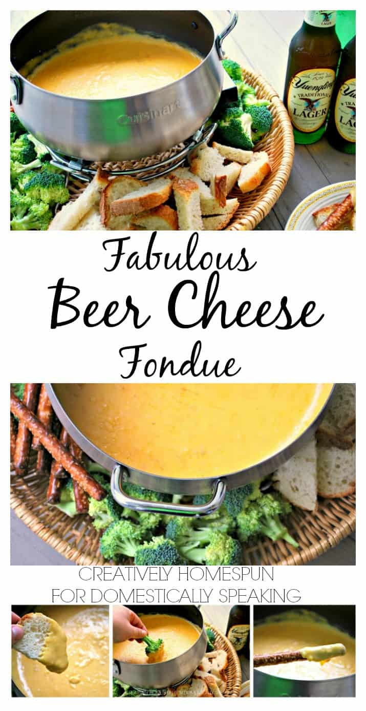 Fabulous Beer Cheese Fondue Recipe || Creatively Homespun for Domestically Speaking