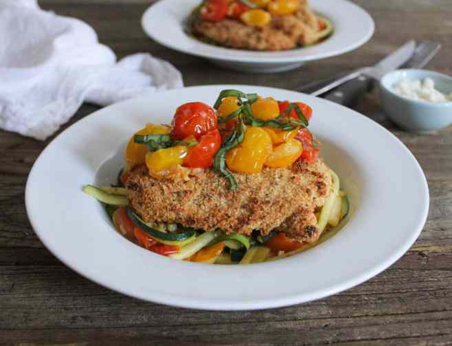 dude-diet-chicken-cutlets-and-zucchini-pasta-with-cherry-tomatoes