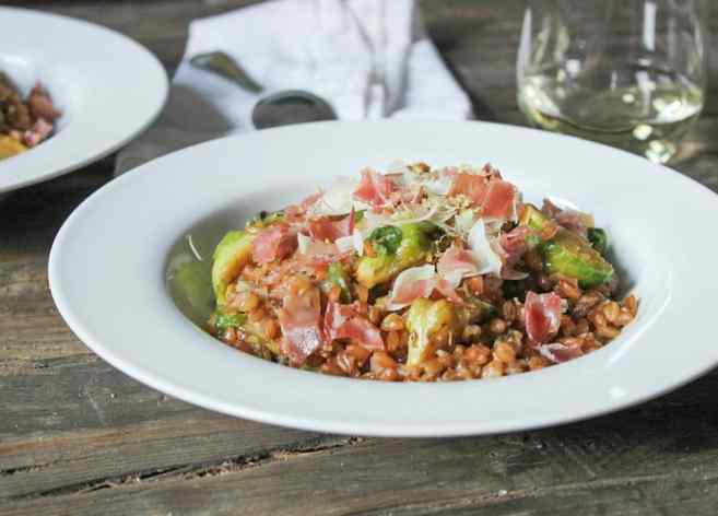 Farro-risotto-with-prosciutto-parmesan-and-brussels-sprouts-13-3