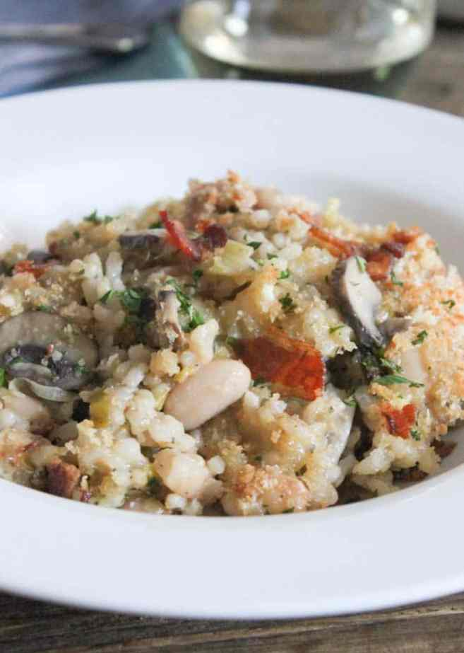 Mushroom-White-Bean-and-Brown-Rice-Casserole-With-Bacon-and-Gruyere-4