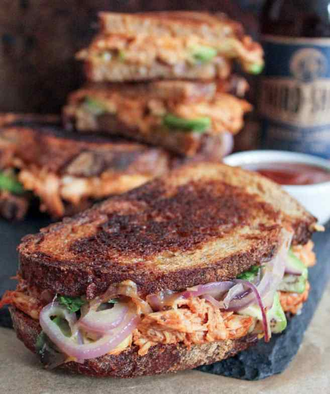 Barbecue-Chicken-Grilled-Cheese-with-Avocado-Cilantro-and-Red-Onion-2