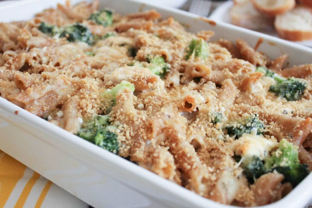 Cheesy Baked Penne With Chicken And Broccoli- Domesticate Me-3979
