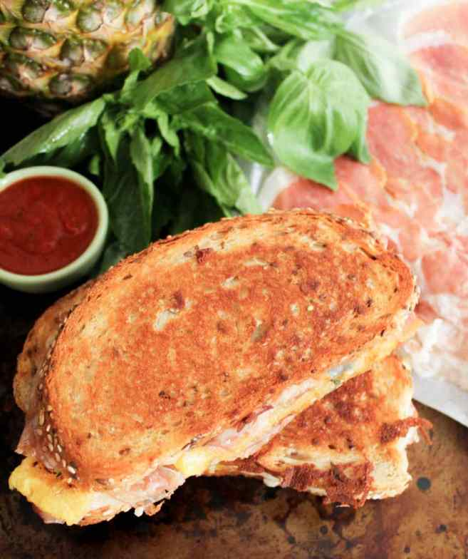 Hawaiian-Grilled-Cheese-With-Grilled-Pineapple-Prosciutto-and-Basil-2