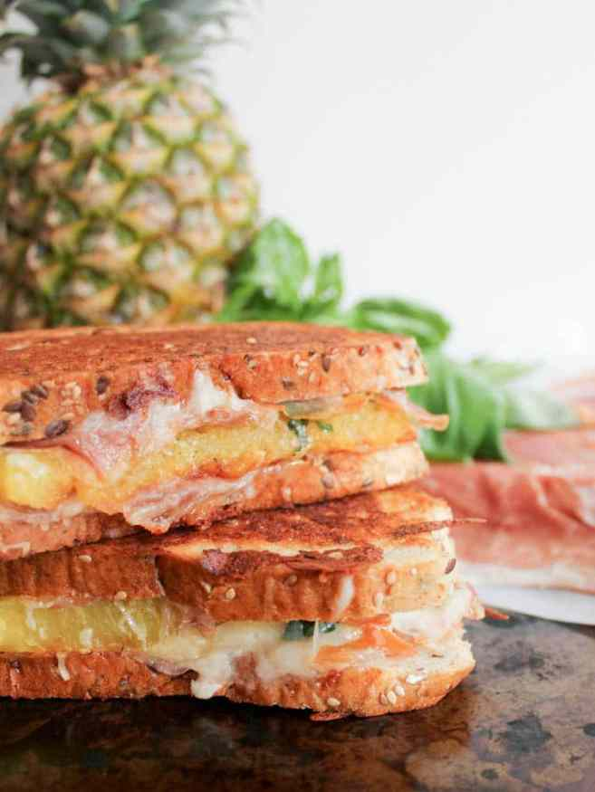Hawaiian-Grilled-Cheese-With-Grilled-Pineapple-Prosciutto-and-Basil-5