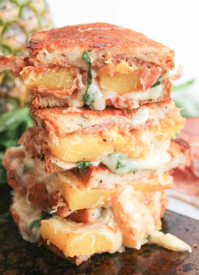 Hawaiian-Grilled-Cheese-With-Grilled-Pineapple-Prosciutto-and-Basil-6